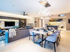 Classic Contemporary Kitchen Living Room@Seni Kiara Condo