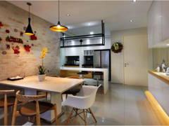 Scandinavian Dining Room Kitchen@Midfields