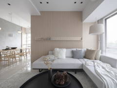 Contemporary Minimalistic Foyer Living Room@''Life of ZEN - Townhouse
