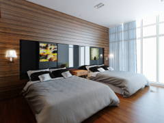 Contemporary Bedroom@Dua Sentral Expat Home