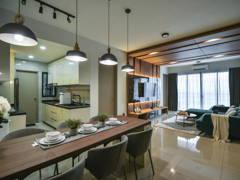 Contemporary Dining Room Living Room@Menara Simfoni