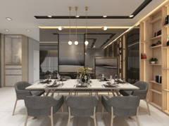 Contemporary Modern Dining Room@Modern Terrace @ Damai Impian