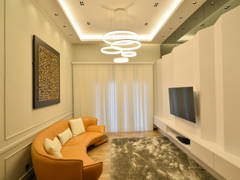Contemporary Minimalistic Living Room@Modern Luxury Bungalow at Pekan, Pahang