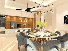 Modern Dining Room@PERDANA HEIGHT SHAH ALAM BUNGALOW HOUSE