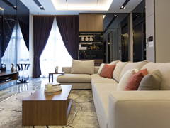 Contemporary Modern Foyer Living Room@Desa Hill Residence, Desa Petaling