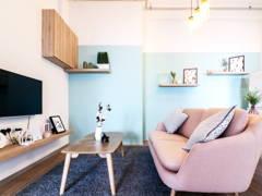 Minimalistic Scandinavian Living Room@Vida @ Bukit Ceylon