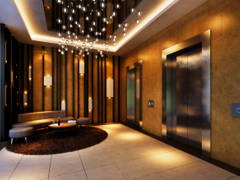 Contemporary Modern Foyer@PJ Midtown - High End Condominium Facilities