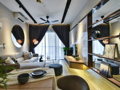 Contemporary Modern Dining Room Living Room@Chic Luxury - Petalz Residences, Old Klang Road
