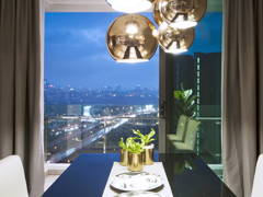 Minimalistic Modern Balcony Dining Room@The Vyne 19