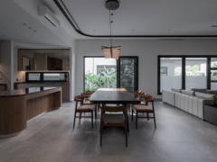 Asian Minimalistic Kitchen Living Room@Hunter Douglas Exclusive Suites