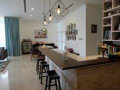 Modern Dining Room@Modern Industrial Condo