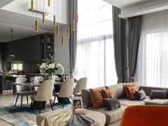 Contemporary Minimalistic Living Room@The Enclave Premium Semi Dee, jadehills
