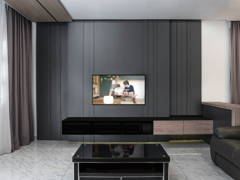 Minimalistic Modern Living Room@In Brown or Black?