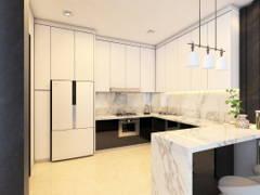 Contemporary Modern Kitchen@HERMOSA VILLA, ECO SANCTUARY