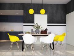 Modern Scandinavian Dining Room@COMFORT AIR BNB @ Arte Plus