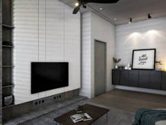 Contemporary Living Room@Old Structure New Soul