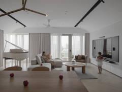 Modern Scandinavian Kitchen Living Room@LIVING CURVE - Sentul, Kuala lumpur