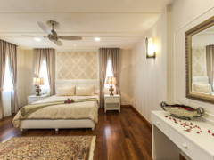 Country Vintage Bedroom@Luxury classic bungalow at Taman TAR. Interior design and build by Klaas.