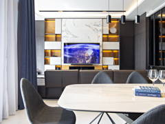 Contemporary Modern Dining Room Living Room@Tropicana Grande Residence