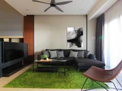 Contemporary Living Room@Tebrau 9F Residence