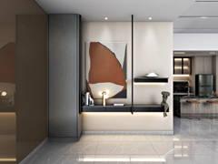 Contemporary Modern Foyer@Cheria Residence II