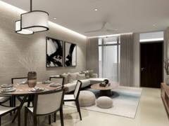 Minimalistic Zen Dining Room Living Room@Neutral Minimalist Zen - Valley West 2, Horizon Hills