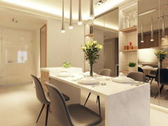 Asian Contemporary Dining Room Foyer@AraGreens Residences (Type A1)