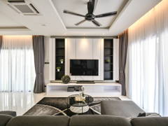 Contemporary Modern Living Room@Setia Damai 16