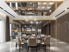 Contemporary Modern Dining Room@T RESIDENCE AT KOTA KINABALU