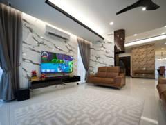 Minimalistic Modern Family Room@Setia Eco Park