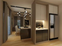 Contemporary Modern Dining Room Kitchen@Maisson Condo @ Ara Damansara