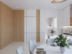 Contemporary Modern Dining Room Kitchen@Eco Majestic