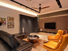 Contemporary Modern Living Room@Semi-D, Kinrara Residence Ambrosia