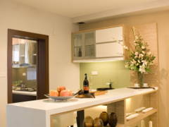 Asian Contemporary Kitchen@Contemporary Mix Tropical Design @ Zenia Terrace