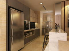 Contemporary Kitchen@Exclusive Condominium in KL