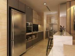 Contemporary Kitchen@Exclusive Condominium in KL