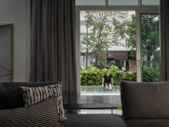 Minimalistic Scandinavian Exterior Living Room@The urban house