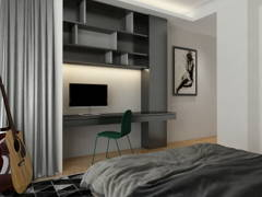 Contemporary Bedroom@Home Sweet Home