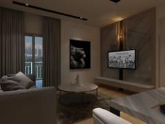 Minimalistic Modern Living Room@Maisson Condo @ Ara Damansara