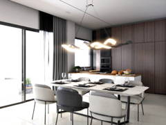 Modern Dining Room Kitchen@Eco Ardence, Setia Alam