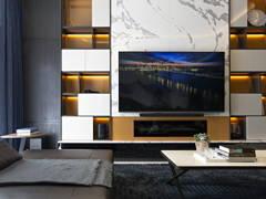 Contemporary Modern Living Room@Tropicana Grande Residence