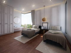 Classic Contemporary Bedroom@Bungalow Jalan Topaz