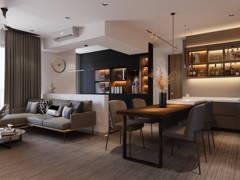 Contemporary Dining Room Living Room@Nidoz Desa Petaling