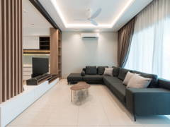 Contemporary Minimalistic Living Room@Scarlet Rimbayu Double Storey Terrace
