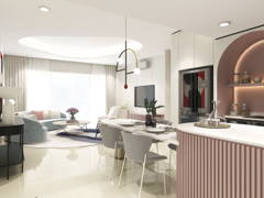 Contemporary Dining Room Living Room@Whimsical Dwelling - Seringin Residences, PJ