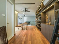 Asian Contemporary Family Room Study Room@Scenaria Residence Townhouse