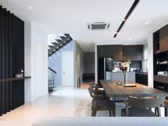 Contemporary Modern Dining Room Kitchen@Ficus Peak, Denai Alam