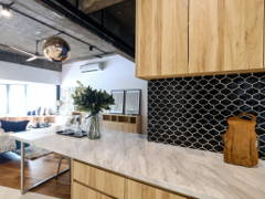 Contemporary Retro Dining Room Kitchen@Henry Goulding home
