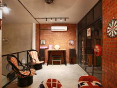 Contemporary Vintage Family Room Kids@Terrace House - Kepong Baru