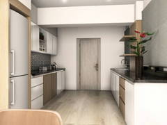 Modern Kitchen@AIM POINT CONDO, BANTING